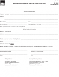 Form DR-42e Application for Extension of 90-day Decal to 180 Days - Florida