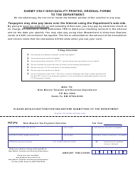 Form PIT-PV New Mexico Tax Payment Voucher - New Mexico
