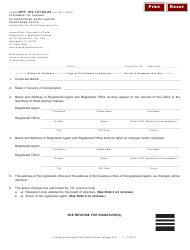 Form NFP-105.10/105.20 Statement Of Change Of Registered Agent And/or Registered Office - Illinois