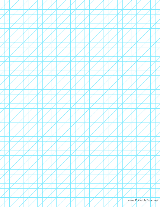 """Blue Oblique .25 Inch Graph Paper"" Download Pdf"