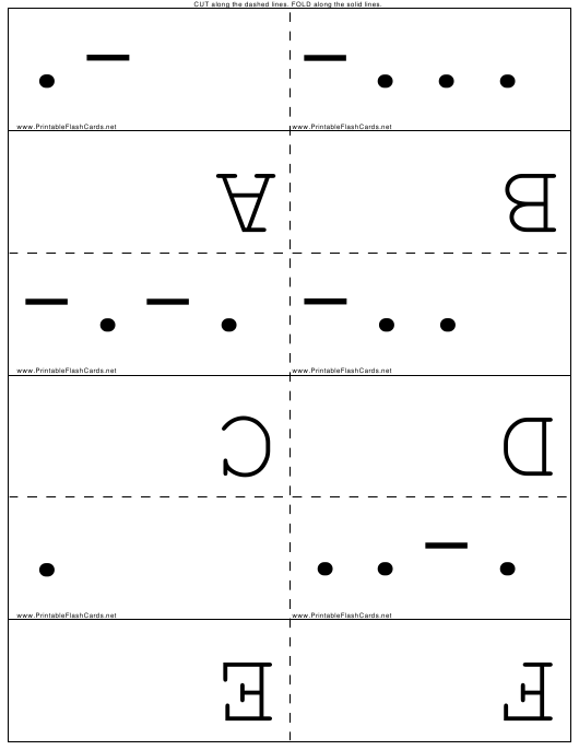 graphic about Morse Code Printable titled World-wide Morse Code Flash Playing cards Down load Printable PDF