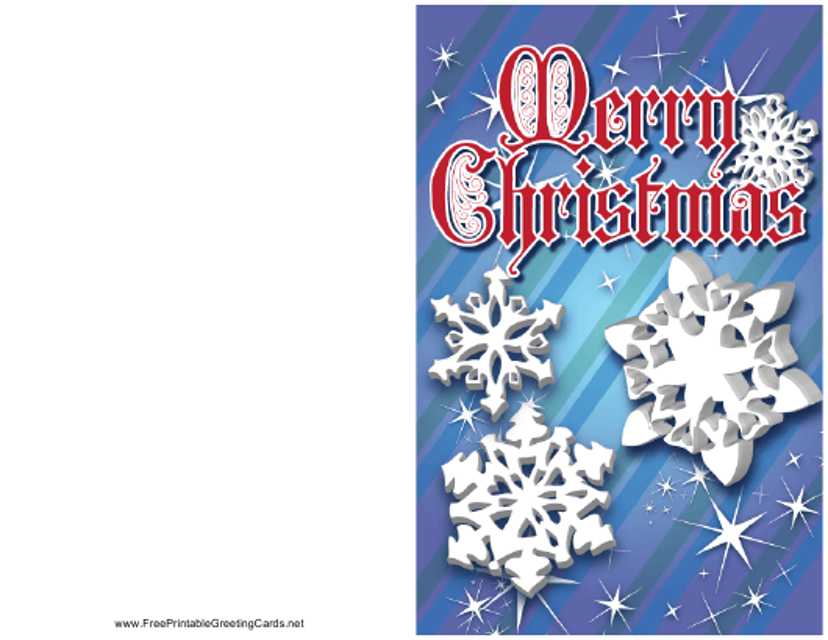 """Christmas Snowflake Card Template"" Download Pdf"