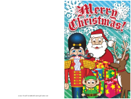 """Merry Christmas Nutcracker Card Template"""