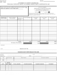 Form UC-10-c Statement to Correct Information Previously Reported Under the Alabama Unemployment Compensation Law - Alabama