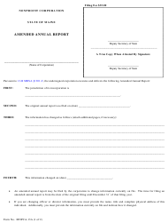 """Form MNPCA-13A """"Nonprofit Corporation Amended Annual Report"""" - Maine"""
