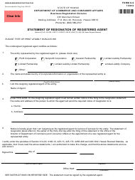 Form X-9 Statement of Resignation of Registered Agent - Hawaii