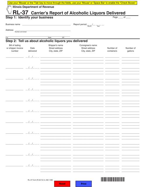 Form RL-37 Printable Pdf