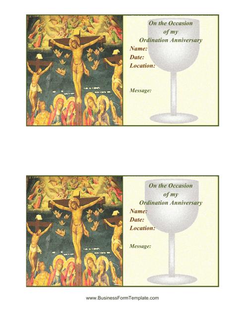 """""""Ordination Invitation Template"""" Download Pdf"""