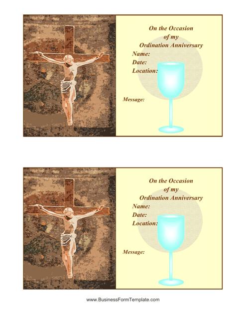 """Ordination Certificate Template"" Download Pdf"