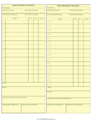 Semi-monthly Time Card Template
