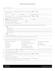"""""""Nutrition Assessment Form - Purdue University"""""""