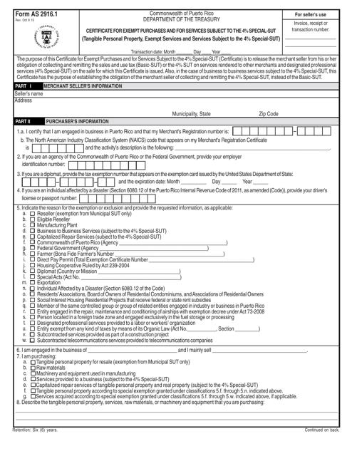 Form AS2916.1 Printable Pdf