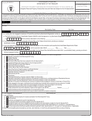 """Form AS2916.1 """"Certificate for Exempt Purchases and for Services Subject to the 4% Special-Sut"""" - Puerto Rico"""