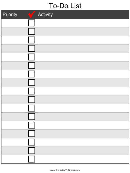 """""""To-Do List Template"""" Download Pdf"""