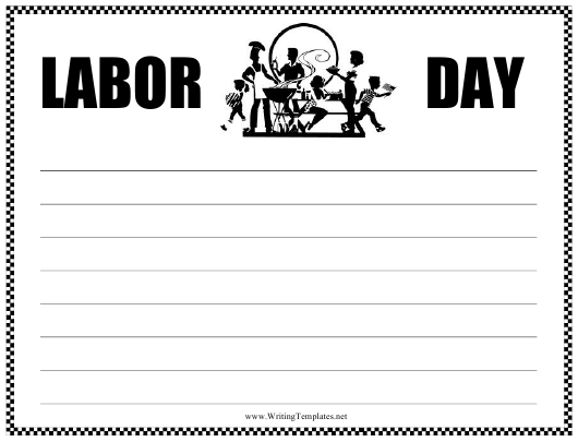 """""""Labor Day Writing Template"""" Download Pdf"""