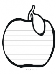 Apple Writing Paper Template