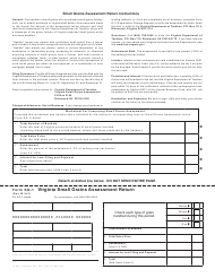 "Form SG-1 ""Virginia Small Grains Assessment Return"" - Virginia"