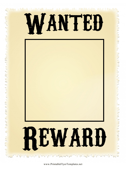 """""""Beige Wanted Poster Template"""" Download Pdf"""