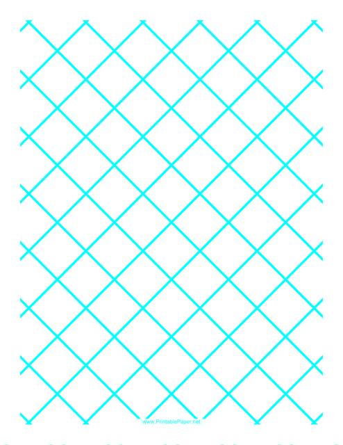 """Blue 1 Inch Quilt Grid Graph Paper Template"" Download Pdf"
