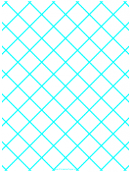 Blue 1 Inch Quilt Grid Graph Paper Template