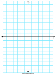 Cyan 5 Inch Axis Graph Paper Template