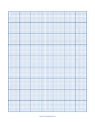 Blue Cross-stitch 14 Lines Per Inch Paper Template