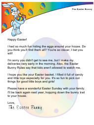 """Sample Easter Bunny Letter"""