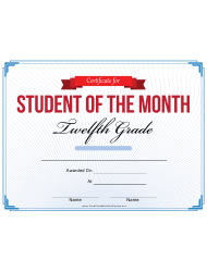student of the month certificate templates pdf download fill and