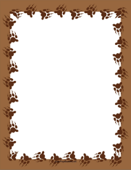 """Brown Bear Paw Page Border Template"""