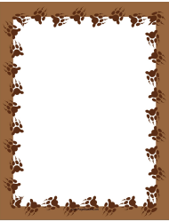 Brown Bear Paw Page Border Template