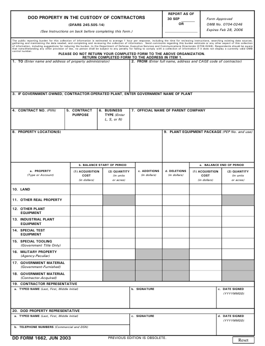 DD Form 1662 Fillable Pdf