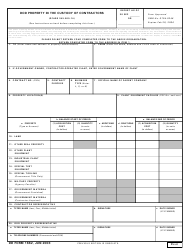 DD Form 1662 DoD Property in the Custody of Contractors