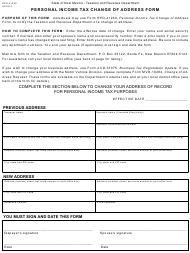 "Form RPD-41260 ""Personal Income Tax Change of Address Form"" - New Mexico"