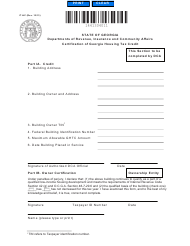 "Form IT-HC ""Certification of Georgia Housing Tax Credit"" - Georgia (United States)"