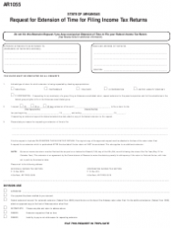 Form AR 1055 Request for Extension of Time for Filing Income Tax Returns - Arkansas