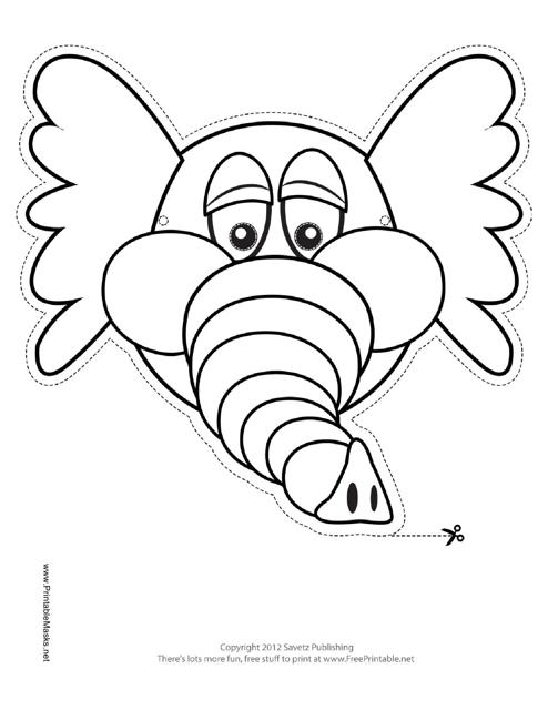 Elephant Mask Outline Template Pdf