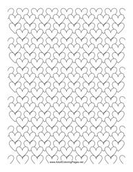 """""""Blank Heart Pattern Paper"""""""
