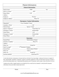 """Patient Information Form"""