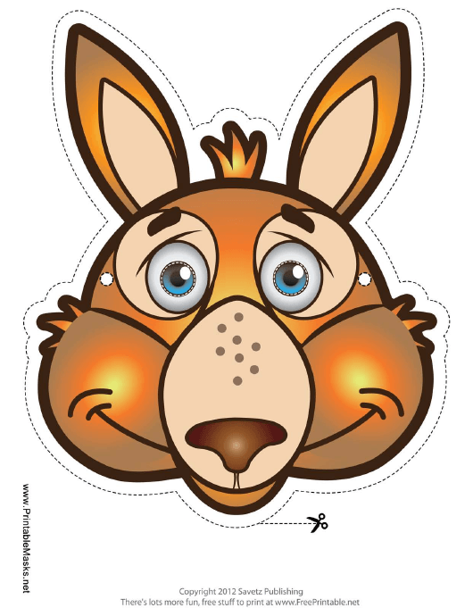 """Kangaroo Mask Template"" Download Pdf"