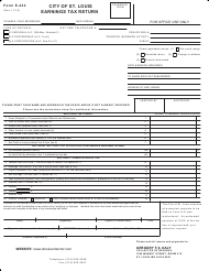 "Form E-234 ""City of St. Louis Earnings Tax Return"" - CITY OF ST. LOUIS, Missouri"