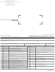 ATF Form 1370.2 Requisition for Firearms/Explosives Forms - U.S. Department of Justice