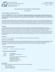 """Form EIA-7A """"Annual Survey of Coal Production and Preparation"""""""