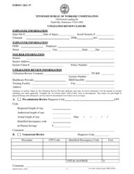 "Form C-36 (C-37; LB-0375) ""Utilization Review Closure"" - Tennessee"