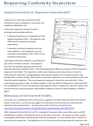 "Instructions for FAA Form 8120-10 ""Request for Conformity"""
