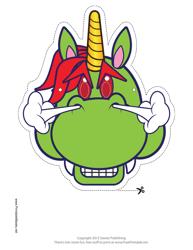 """""""Scary Unicorn Mask Template"""""""