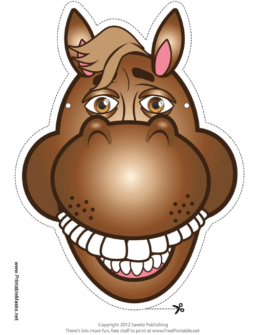 """""""Horse Mask Template"""" Download Pdf"""