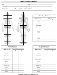 Chiropractor Posture Chart Template