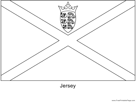 """Blank Jersey Flag Template"" Download Pdf"