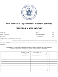 Director's Affiliations Form - New York