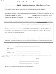 Form SEL-2 Swcd-Resident Absentee Ballot Request Form - Ohio